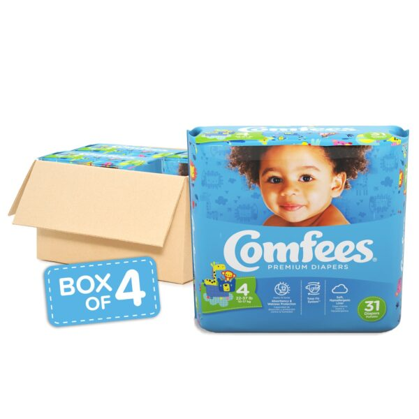 Comfees Premium Baby Diapers - Size 4 - Sebcare