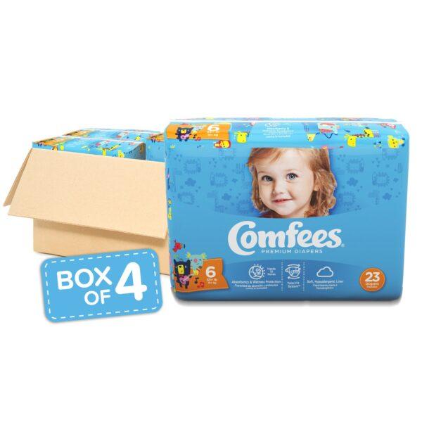 Comfees Premium Baby Diapers - Size 6 - Sebcare