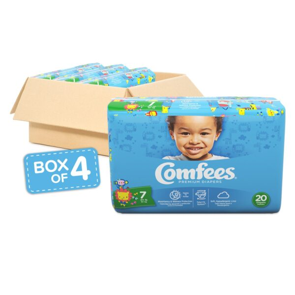 Comfees Premium Baby Diapers - Size 7