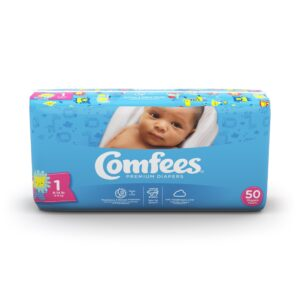 Comfees Premium Baby Diapers - Size 1
