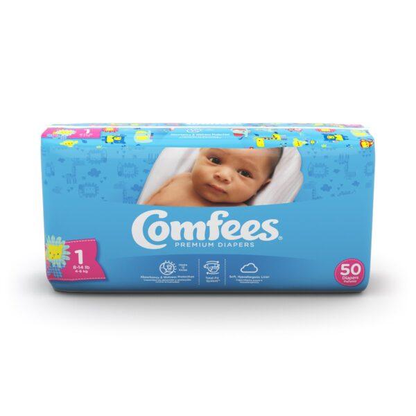 Comfees Premium Baby Diapers - Size 1
