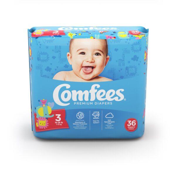 Comfees Premium Baby Diapers - Size 3