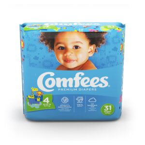 Comfees Premium Baby Diapers - Size 4