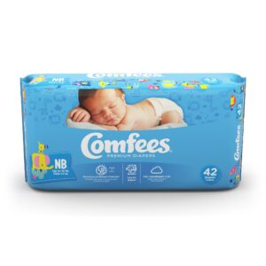 Comfees Premium Baby Diapers Size NB - 42 Ns