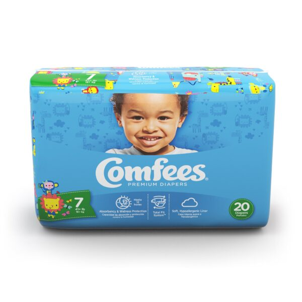 Comfees Premium Baby Diapers - Size 7 - Sebcare