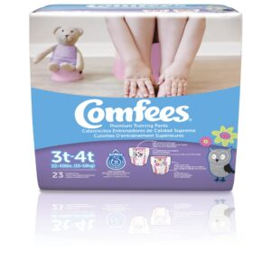 Comfees Training Pants-Size 3T-4T-Girls - Sebcare