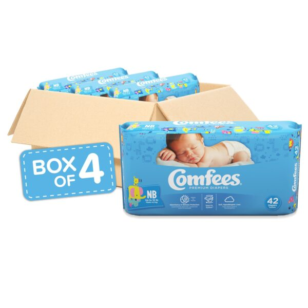 Comfees Premium Baby Diapers - Size NB - Sebcare