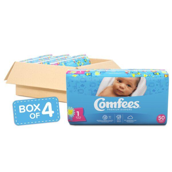 Comfees Premium Baby Diapers - Size 1 - Sebcare