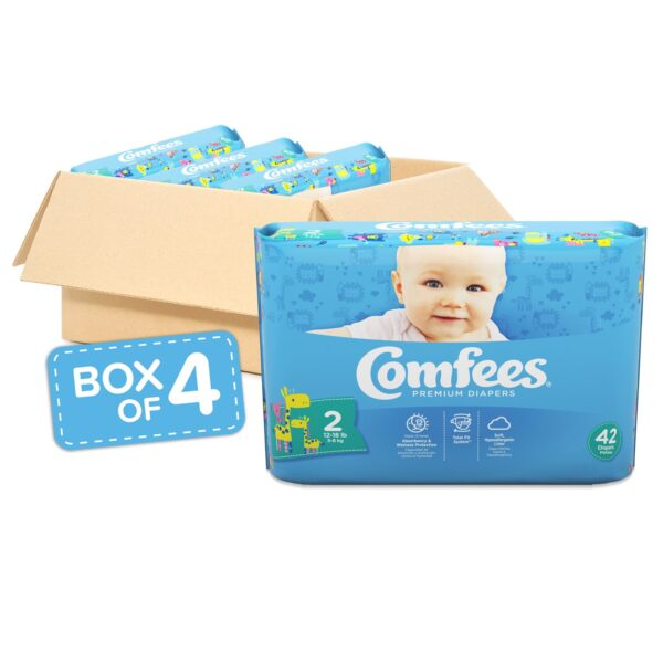 Comfees Premium Baby Diapers - Size 2 - Sebcare