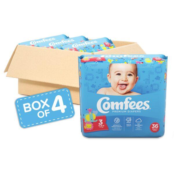 Comfees Premium Baby Diapers - Size 3 - Sebcare