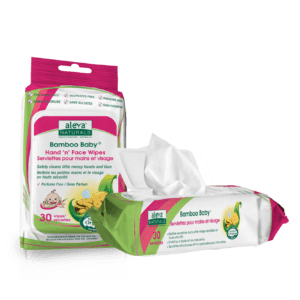 Aleva Naturals Bamboo Baby® Hand 'N' Face Wipes