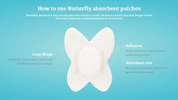 Butterfly Absorbent Patches