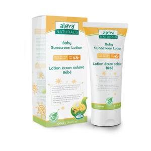 Aleva Naturals Baby Sunscreen Lotion - SPF 45+ - Sebcare