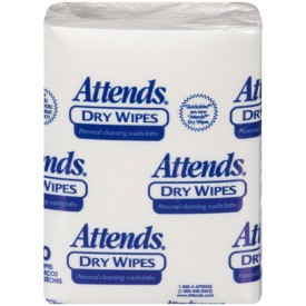 Attends Dry Wipes Medium