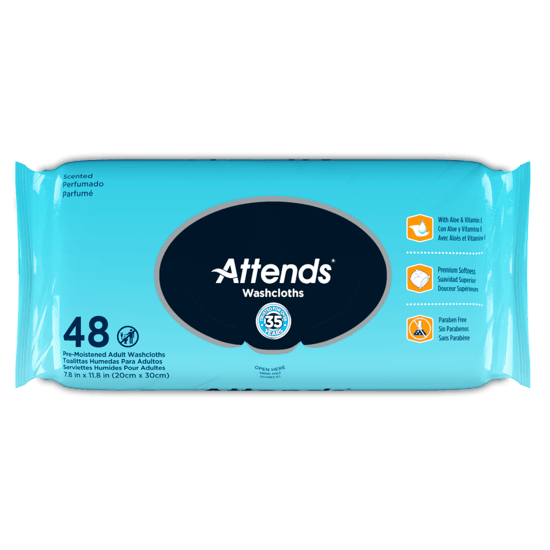 Attends Scented Washcloths 48ct