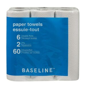 Baseline 2-Ply Paper Towel - 6 Pack
