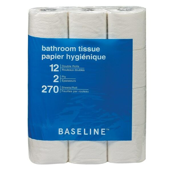 Baseline Bathroom Tissue, Double Roll, 12 Pack