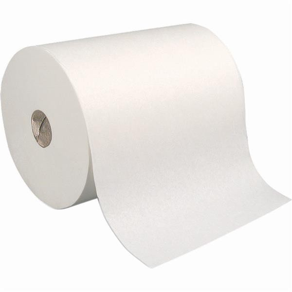 "Coastwide Professional 100% Recycled Fibre Roll Towels, White, 800', 7.875"" Width, 6 Rolls/Box"