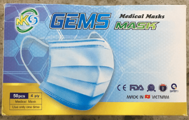BX/50 SURGICAL MASKS, 4 PLY, EARLOOP