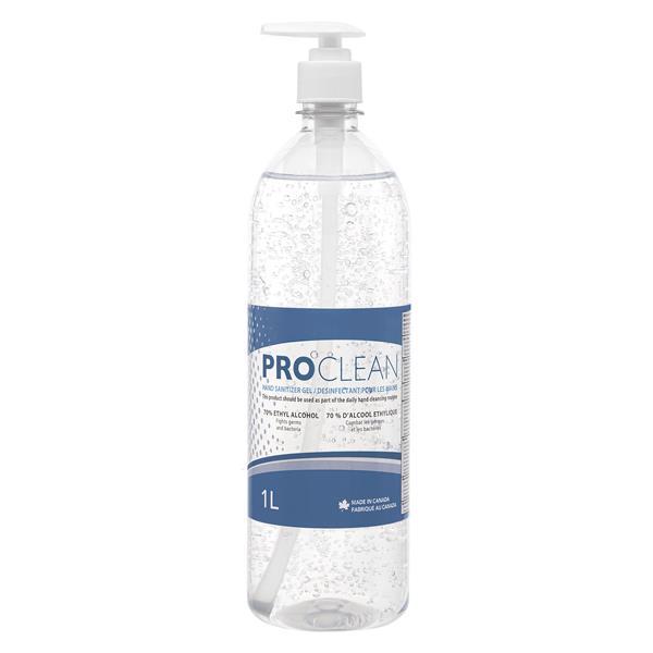 Pro Clean Hand Sanitizer Gel, 70% Alcohol, 1L