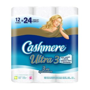 Cashmere Ultra Double Roll Bathroom Tissues, 12 Pack