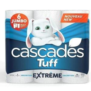 Cascades Tuff Extreme Paper Towels - 6 Jumbo Rolls