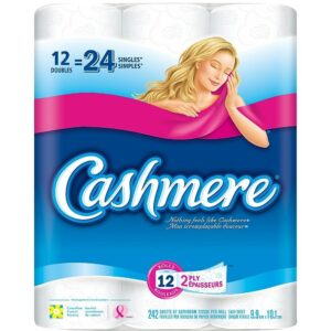 Cashmere Quilted Bathroom Tissue, Double Roll, 12 Pack