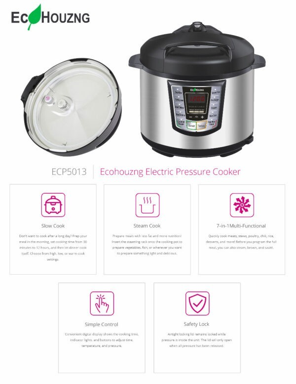 Ecohouzng Electric Pressure Cooker